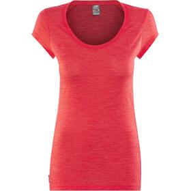 Icebreaker W's Sphere SS Scoop Shirt poppy red hthr